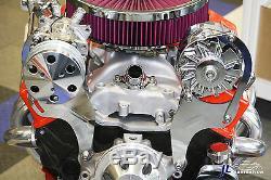 Sbc Chevy Compresseur De Climatisation Et Pompe D'alternateur, Montage Dessus, Chrome
