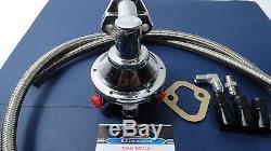 Sbc Chevy Kit De Pompe À Carburant Mécanique High Volume Avec Raccords Et Tuyau Tressé S. S.