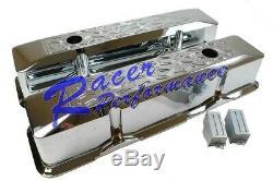 Sbc Grand Valve Encastré Aluminium Chromée Pour La Flamme 283 305 327 383 350 400chevy
