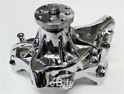 Sbc Pompe À Eau En Alliage Chrome Pompe Longue Eau 283- 327-350-400 Hot Rod