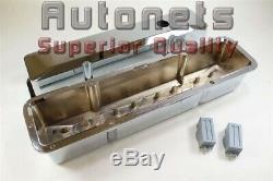 Sbc Small Block Chevy Chrome Aluminium Couvercle De Valve Grand Encastré Uni 305 350