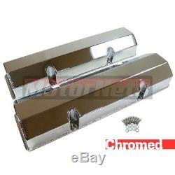Sbc Small Block Chevy Fabrique Un Cache-valve En Aluminium Chromé Sans Trou De Reniflard