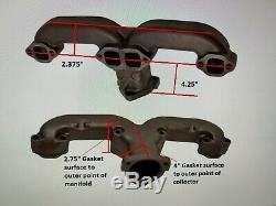 Small Block Chevy Sbc 283 327 350 V8 Ram Klaxon Chrome Collecteur D'échappement En-têtes