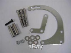 Small Block Chevy Sbc Chrome Bas Mont Alternateur Support Court Wp 283 350