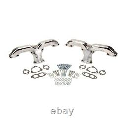 Smoothie Rams Horn Exhaust Manifolds, Petit Bloc Chevy, Chrome
