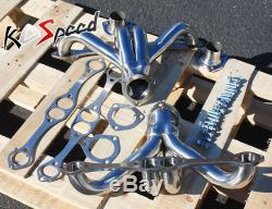 Ss En Acier Inoxydable Racing Échappement Tête Sbc Chevy Small Block V8 Hugger 8cyl