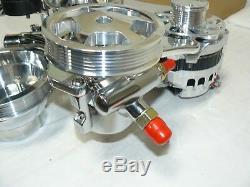 Système D'entraînement Avant Serpentine 262-400 Small Block Sbc Chevy, Chrome / Poli