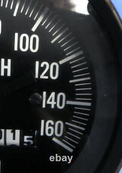 Vintage 1960's Stewart Warner Gauge Speedometer 3-3/8 160mph Ec Non Testé