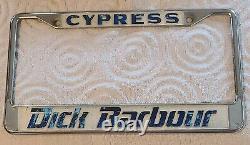 Vintage Jdm Datsun Concessionnaire Plaque De Licence Cadre Dick Barbour Cypress 510 240z 720
