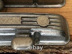 Vintage Sbc Petit Bloc Chevy 5 Fin Covers Valve Modèle Droit Chrome Ansen